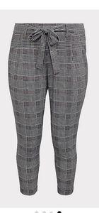 Torrid Houndstooth Tie Front Cigarette Pant Crop